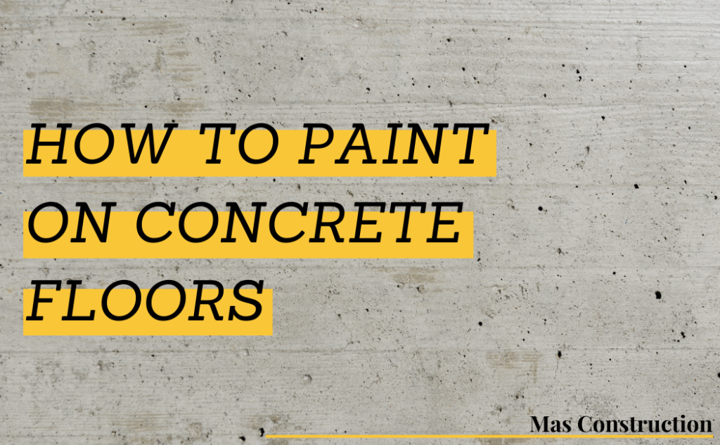 How to Paint on Concrete Floors