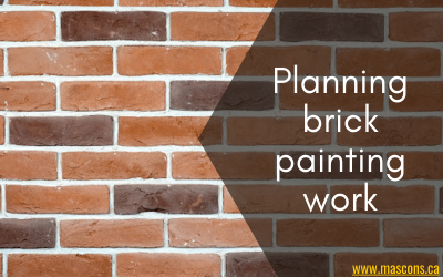 brick painting work