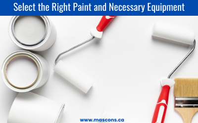 Select the right paint for interior painting