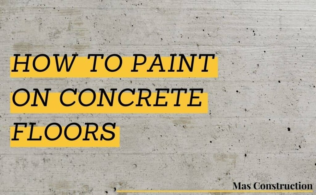 Concrete Floors painting by Painters in Markham